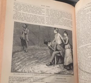 Image of illustration and page from Charles Dickens' Hard Times